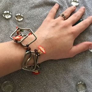 Jewelry - Metal Coil Flower Bracelet